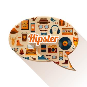 Hipster social concept