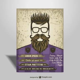 Hipster style poster
