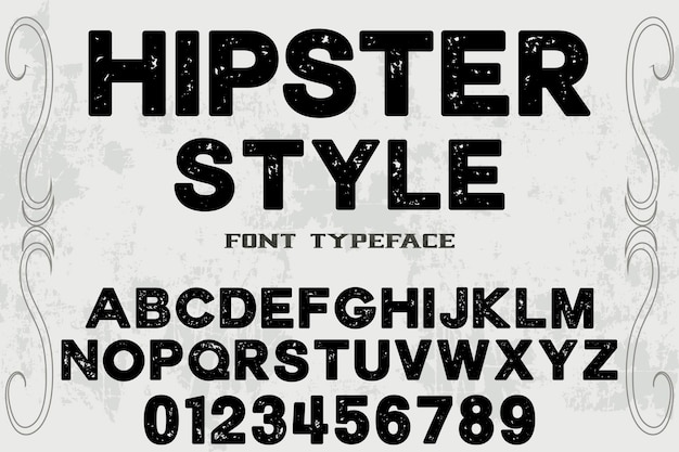 Hipster typography label design