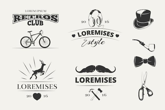 Hipster vector logos