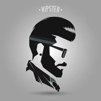 Hipster vintage hair style