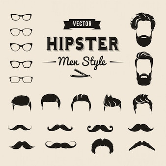 Hipster мужчины элементы