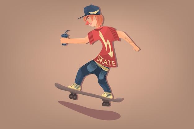 スタイリッシュなスケート漫画hipster