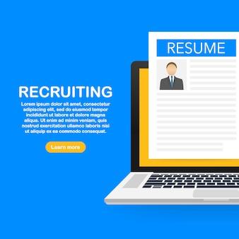 労働者を雇って、雇用テンプレートを選択する雇用主検索チーム