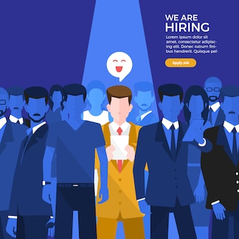 Hiring business people banner