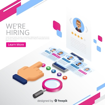 Hiring concept isometric background