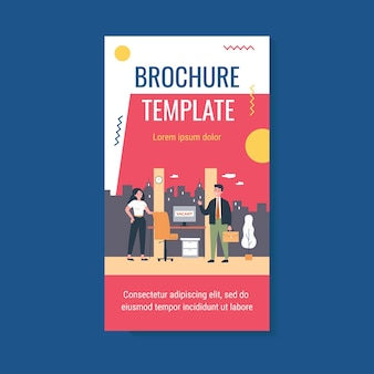 Hiring and employment brochure template