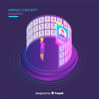 Hiring isometric background