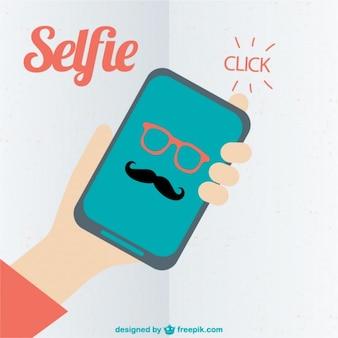Hispter selfie векторной графики