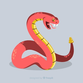 Hissing rattlesnake background