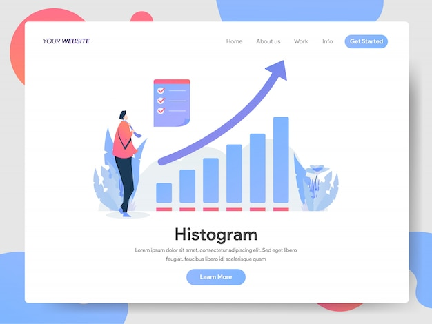 Histogram banner of landing page