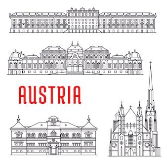 오스트리아의 역사적인 건축물. 쇤 부른 궁전