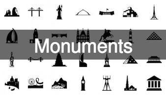 Historic monuments icons