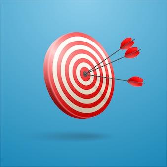 Попади точно в цель. концепция бизнес-достижений.