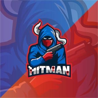 ヒットマンマスコットロゴ
