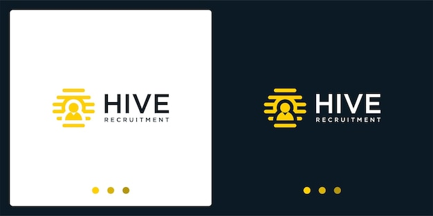 Hive logo inspiration and people logo. premium vector.