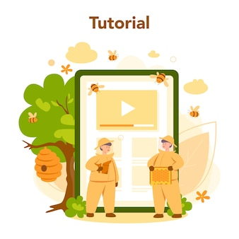 Hiver or beekeeper online service or platform