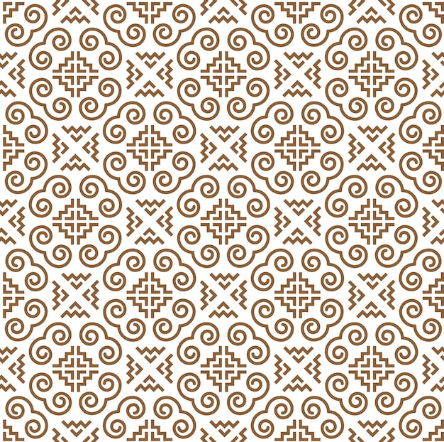 Hmong pattern seamless, spiral pattern design for decoration, textile and wallpaper background