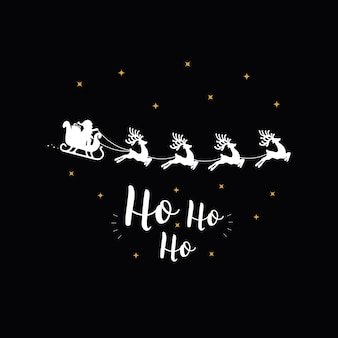 Ho Ho Ho christmas greeting text