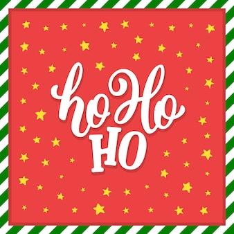 Ho-ho-ho christmas vector greeting card