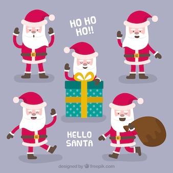 Ho ho ho! collection of santa claus characters
