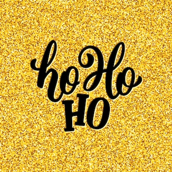 Ho-ho-ho lettering for christmas card