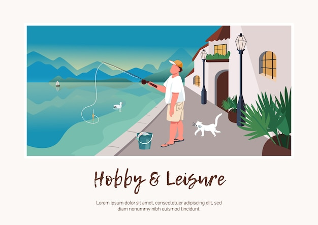 Hobby and leisure banner   template