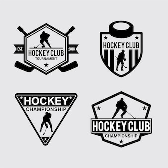 Hockey badge & stickers
