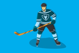Hockey comic player