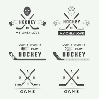 Hockey emblems, logo