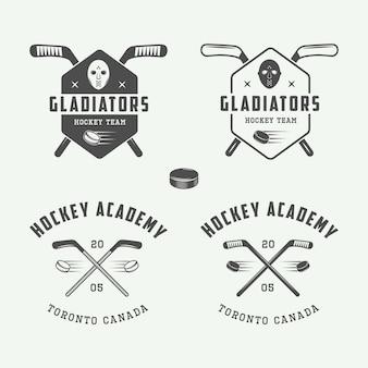 Hockey emblems, logos