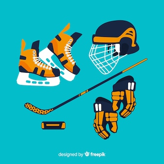 Hockey equipment background