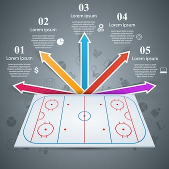 Hockey field template