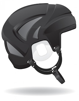 Hockey helmet.