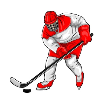 Hockey ice player