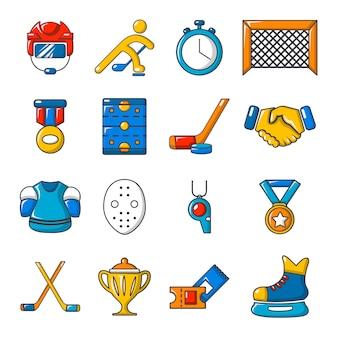 Набор иконок хоккей