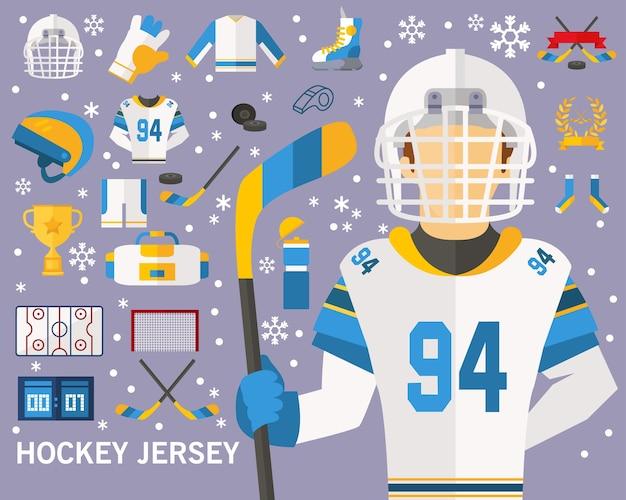 Hockey jersey consept background.