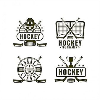 Hockey league championship logo collection