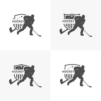 Вектор иллюстрации шаблона дизайна логотипа хоккея