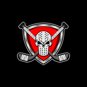 Hockey mask crest skull insert hockey sticks