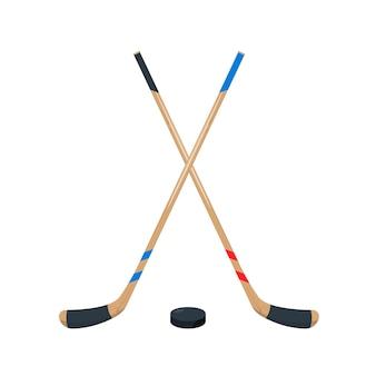 Набор хоккейных клюшек и шайб спортивное снаряжение для игры в хоккей на льду
