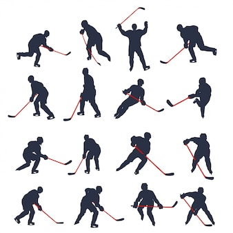 Hockey two colored set