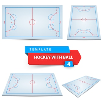 Hockey with ball.