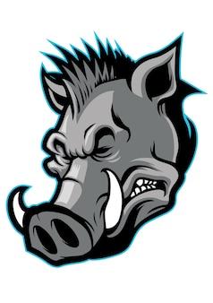 Hog head mascot