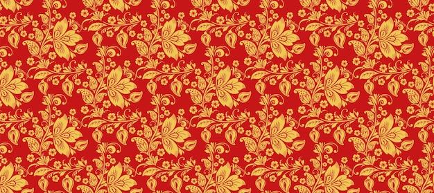 Hohloma 완벽 한 패턴입니다. 러시아 전통 장식