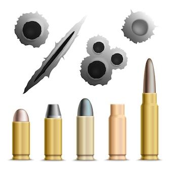 Collezione di fori e proiettili