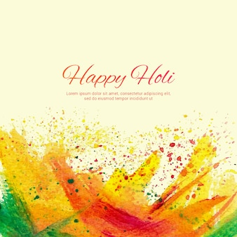 Holi artistic background with watercolors