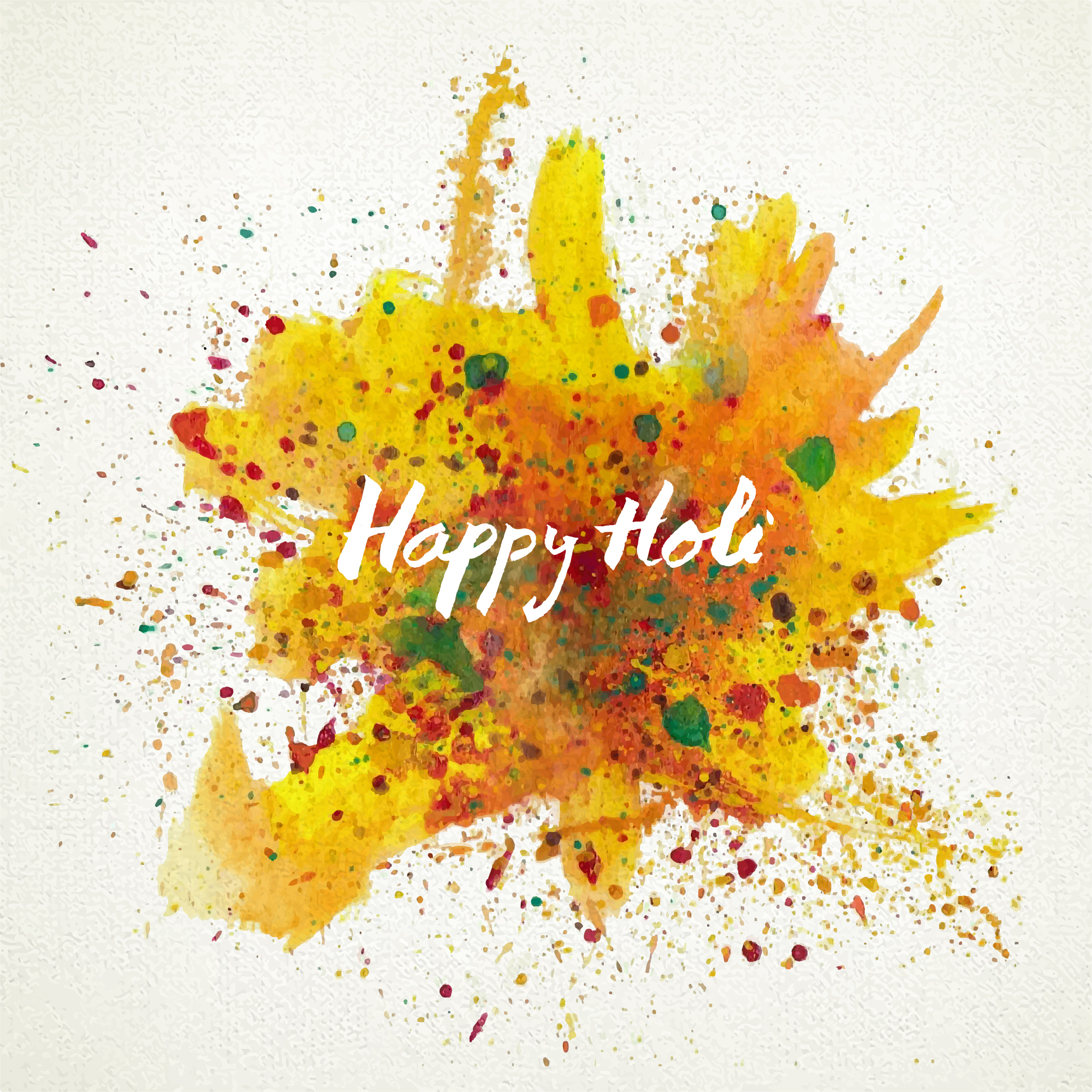 Holi background with paint splatters