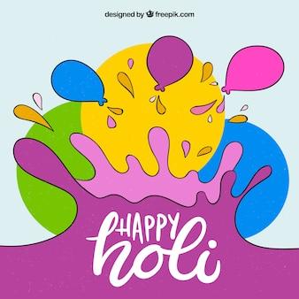 Holi background with splash concept