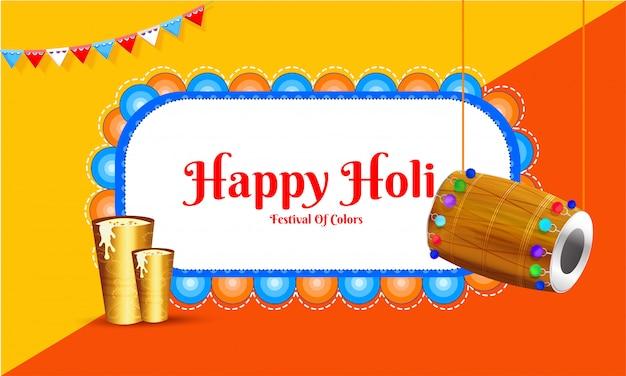 Holi celebration background.